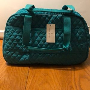 Vera Bradley  Peacock Blue Compact Travel Bag